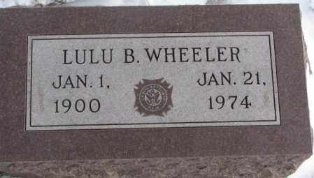 WHEELER, LULU B. - Bon Homme County, South Dakota | LULU B. WHEELER - South Dakota Gravestone Photos