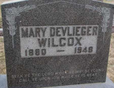 WILCOX, MARY - Bon Homme County, South Dakota | MARY WILCOX - South Dakota Gravestone Photos