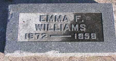 WILLIAMS, EMMA F. - Bon Homme County, South Dakota   EMMA F. WILLIAMS - South Dakota Gravestone Photos