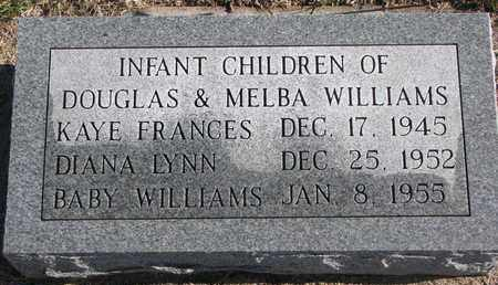 WILLIAMS, INFANT - Bon Homme County, South Dakota | INFANT WILLIAMS - South Dakota Gravestone Photos