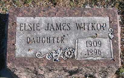 WITKOP, ELSIE JAMES - Bon Homme County, South Dakota | ELSIE JAMES WITKOP - South Dakota Gravestone Photos