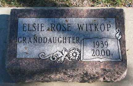 WITKOP, ELSIE ROSE - Bon Homme County, South Dakota | ELSIE ROSE WITKOP - South Dakota Gravestone Photos
