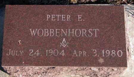 WOBBENHORST, PETER E. - Bon Homme County, South Dakota | PETER E. WOBBENHORST - South Dakota Gravestone Photos
