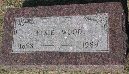 WOOD, ELSIE - Bon Homme County, South Dakota | ELSIE WOOD - South Dakota Gravestone Photos