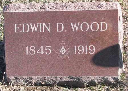 WOOD, EDWIN D. - Bon Homme County, South Dakota   EDWIN D. WOOD - South Dakota Gravestone Photos