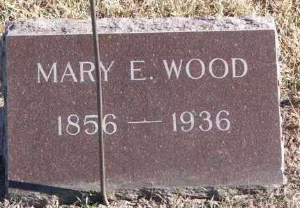 WOOD, MARY E. - Bon Homme County, South Dakota   MARY E. WOOD - South Dakota Gravestone Photos