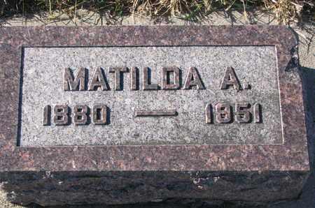 WOOD, MATILDA A. - Bon Homme County, South Dakota | MATILDA A. WOOD - South Dakota Gravestone Photos