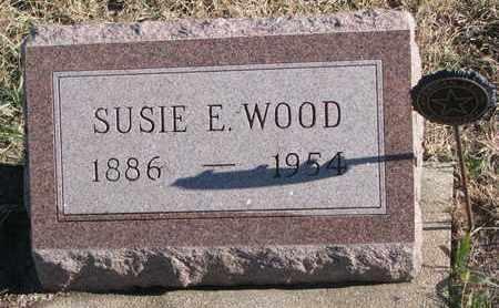 WOOD, SUSIE E. - Bon Homme County, South Dakota   SUSIE E. WOOD - South Dakota Gravestone Photos