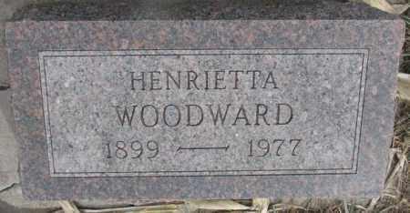 WOODWARD, HENRIETTA - Bon Homme County, South Dakota | HENRIETTA WOODWARD - South Dakota Gravestone Photos