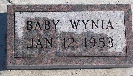 WYNIA, BABY - Bon Homme County, South Dakota   BABY WYNIA - South Dakota Gravestone Photos