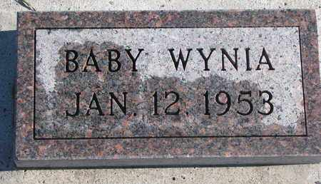 WYNIA, BABY - Bon Homme County, South Dakota | BABY WYNIA - South Dakota Gravestone Photos