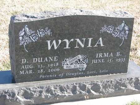 WYNIA, D. DUANE - Bon Homme County, South Dakota   D. DUANE WYNIA - South Dakota Gravestone Photos