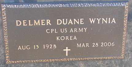 WYNIA, DELMER DUANE (MILITARY) - Bon Homme County, South Dakota | DELMER DUANE (MILITARY) WYNIA - South Dakota Gravestone Photos