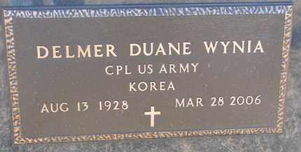 WYNIA, DELMER DUANE (MILITARY) - Bon Homme County, South Dakota | DELMER DUANE (MILITARY) WYNIA - South Dakota Gravestone Photos