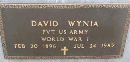 WYNIA, DAVID (WW I) - Bon Homme County, South Dakota | DAVID (WW I) WYNIA - South Dakota Gravestone Photos