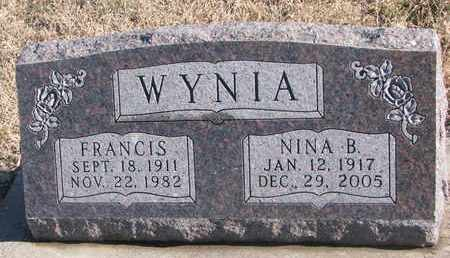 WYNIA, NINA B. - Bon Homme County, South Dakota | NINA B. WYNIA - South Dakota Gravestone Photos