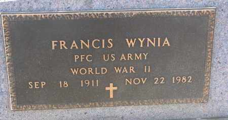 WYNIA, FRANCIS (WW II) - Bon Homme County, South Dakota | FRANCIS (WW II) WYNIA - South Dakota Gravestone Photos