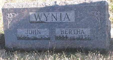 WYNIA, BERTHA - Bon Homme County, South Dakota   BERTHA WYNIA - South Dakota Gravestone Photos