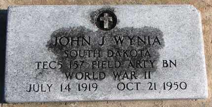 WYNIA, JOHN J. (WW II) - Bon Homme County, South Dakota | JOHN J. (WW II) WYNIA - South Dakota Gravestone Photos