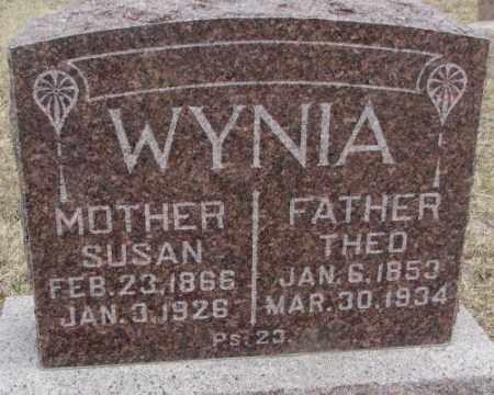 WYNIA, THEO - Bon Homme County, South Dakota | THEO WYNIA - South Dakota Gravestone Photos
