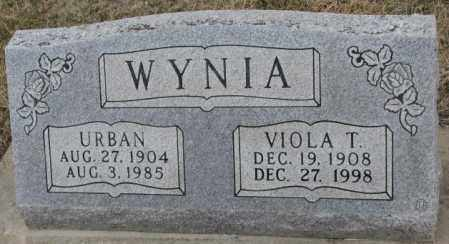 WYNIA, URBAN - Bon Homme County, South Dakota | URBAN WYNIA - South Dakota Gravestone Photos