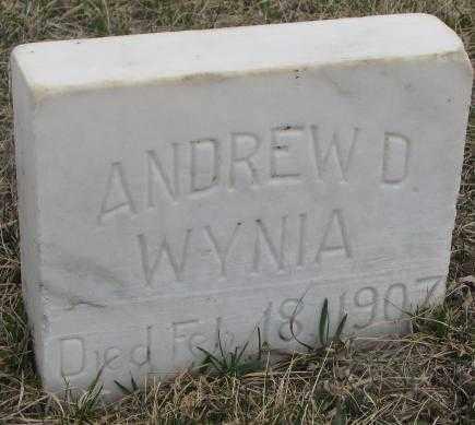 WYNIA, ANDREW D. - Bon Homme County, South Dakota | ANDREW D. WYNIA - South Dakota Gravestone Photos