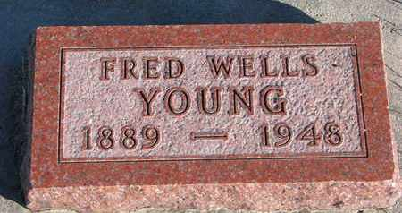 YOUNG, FRED WELLS - Bon Homme County, South Dakota | FRED WELLS YOUNG - South Dakota Gravestone Photos
