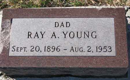 YOUNG, RAY A. - Bon Homme County, South Dakota | RAY A. YOUNG - South Dakota Gravestone Photos