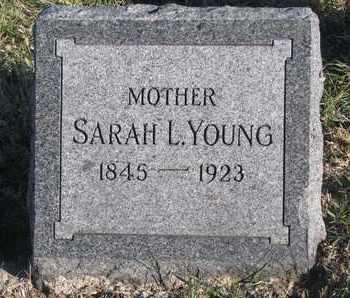 YOUNG, SARAH L. - Bon Homme County, South Dakota   SARAH L. YOUNG - South Dakota Gravestone Photos