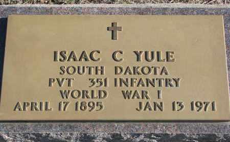 YULE, ISAAC C. - Bon Homme County, South Dakota | ISAAC C. YULE - South Dakota Gravestone Photos