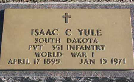 YULE, ISAAC C. - Bon Homme County, South Dakota | ISAAC C. YULE - South Dakota Gravestone Photos