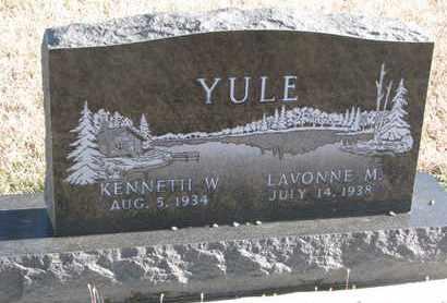 YULE, LAVONNE M. - Bon Homme County, South Dakota | LAVONNE M. YULE - South Dakota Gravestone Photos