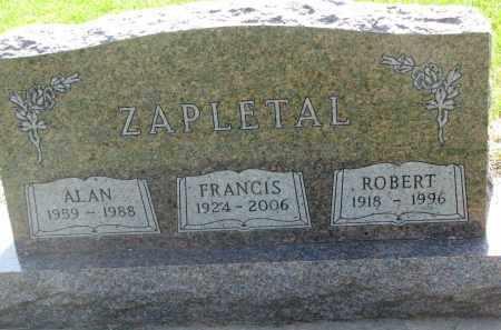 ZAPLETAL, ROBERT - Bon Homme County, South Dakota | ROBERT ZAPLETAL - South Dakota Gravestone Photos