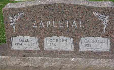 ZAPLETAL, GORDEN - Bon Homme County, South Dakota | GORDEN ZAPLETAL - South Dakota Gravestone Photos