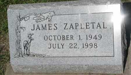 ZAPLETAL, JAMES - Bon Homme County, South Dakota | JAMES ZAPLETAL - South Dakota Gravestone Photos