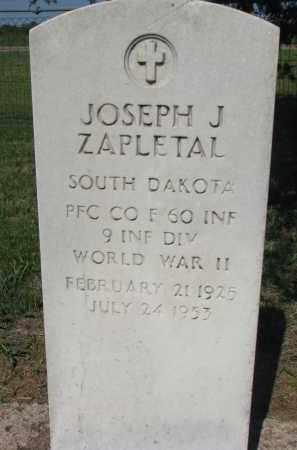 ZAPLETAL, JOSEPH J. (WW II) - Bon Homme County, South Dakota   JOSEPH J. (WW II) ZAPLETAL - South Dakota Gravestone Photos
