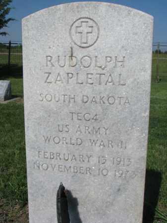 ZAPLETAL, RUDOLPH - Bon Homme County, South Dakota | RUDOLPH ZAPLETAL - South Dakota Gravestone Photos