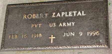 ZAPLETAL, ROBERT (MILITARY) - Bon Homme County, South Dakota | ROBERT (MILITARY) ZAPLETAL - South Dakota Gravestone Photos