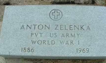 ZELENKA, ANTON - Bon Homme County, South Dakota | ANTON ZELENKA - South Dakota Gravestone Photos