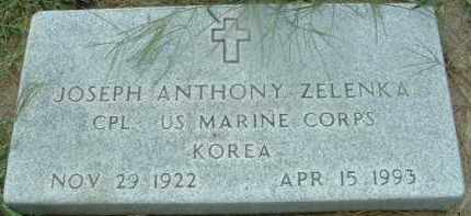 ZELENKA, JOSEPH ANTHONY - Bon Homme County, South Dakota | JOSEPH ANTHONY ZELENKA - South Dakota Gravestone Photos