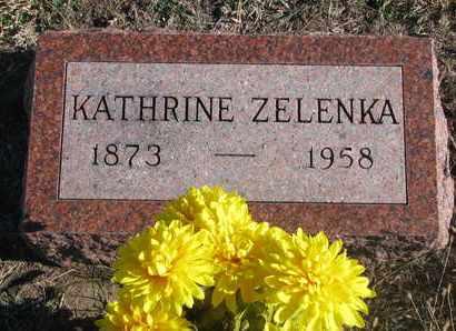 ZELENKA, KATHRINE - Bon Homme County, South Dakota | KATHRINE ZELENKA - South Dakota Gravestone Photos