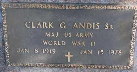 ANDIS, CLARK G. SR. (WW II) - Brookings County, South Dakota | CLARK G. SR. (WW II) ANDIS - South Dakota Gravestone Photos