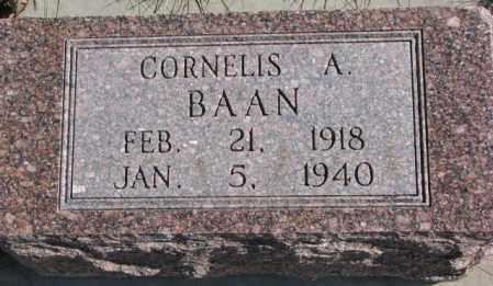BAAN, CORNELIS A. - Brookings County, South Dakota   CORNELIS A. BAAN - South Dakota Gravestone Photos