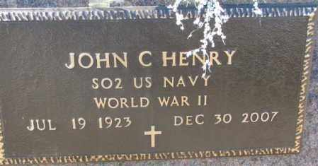 HENRY, JOHN C. (WW II) - Brookings County, South Dakota   JOHN C. (WW II) HENRY - South Dakota Gravestone Photos