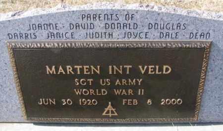 INT VELD, MARTEN (WW II) - Brookings County, South Dakota | MARTEN (WW II) INT VELD - South Dakota Gravestone Photos
