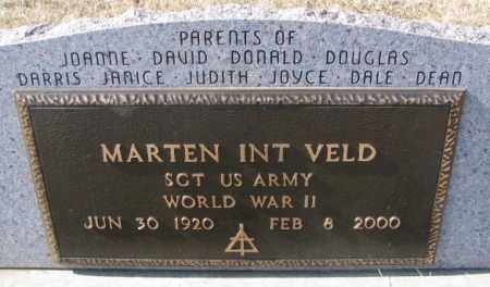 INT VELD, MARTEN (WW II) - Brookings County, South Dakota | MARTEN (WW II) INT VELD - South Dakota Gravestone Photos