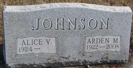 JOHNSON, ALICE V. - Brookings County, South Dakota | ALICE V. JOHNSON - South Dakota Gravestone Photos