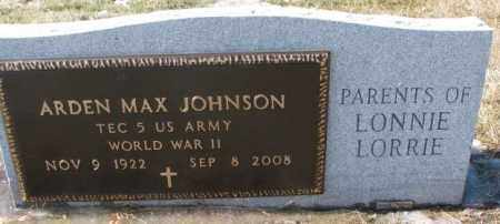 JOHNSON, ARDEN MAX (WW II) - Brookings County, South Dakota | ARDEN MAX (WW II) JOHNSON - South Dakota Gravestone Photos