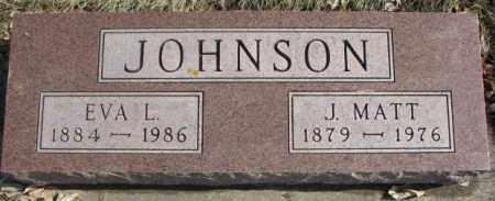 JOHNSON, EVA L. - Brookings County, South Dakota   EVA L. JOHNSON - South Dakota Gravestone Photos