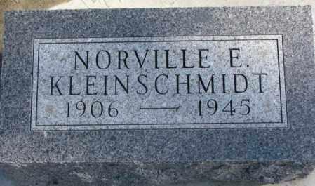 KLEINSCHMIDT, NORVILLE E. - Brookings County, South Dakota | NORVILLE E. KLEINSCHMIDT - South Dakota Gravestone Photos